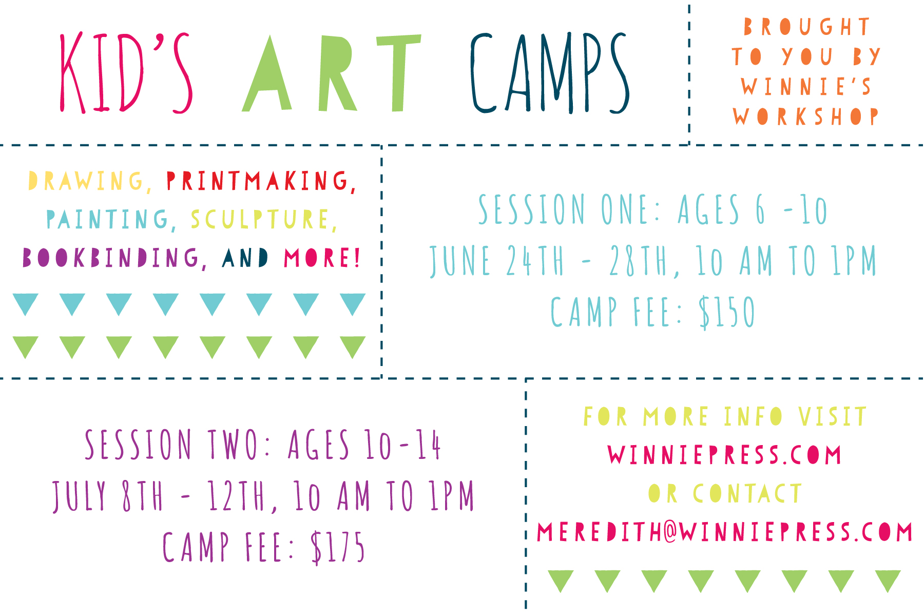 Kid's Summer Camps | winnie press
